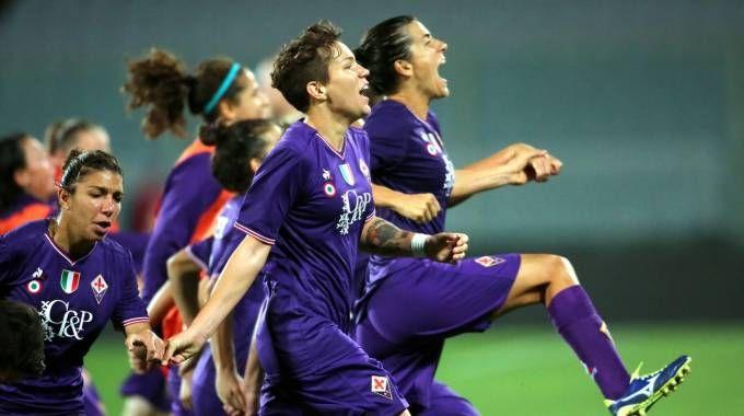 """Fiorentina Women's, l'esultanza delle viola dopo il successo al """"Franchi"""""""