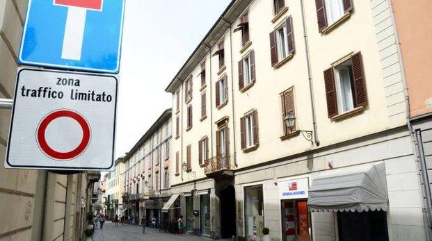 La centralissima via Roma a Lecco