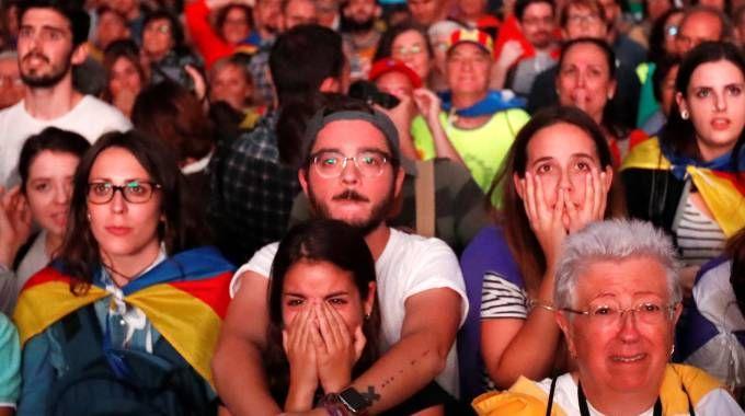 Catalogna, la piazza di Barcellona delusa (Reuters)