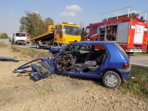 Incidente mortale a Renazzo di Cento (foto Laura Guerra)
