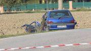 Forse stava rientrando a casa, quando l'auto della 29enne rumena ha centrato frontalmente un furgone (foto Laura Guerra)