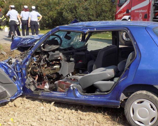 Il terribile incidente avvenuto a Renazzo di Cento (foto Laura Guerra)
