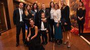 Immagine di gruppo con la famiglia dell'ad del Bologna Claudio Fenucci, Eugenia Rinaldi, Rossella Barbaro