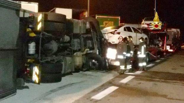 Incidente nell'area di servizio Metauro Est, in A14