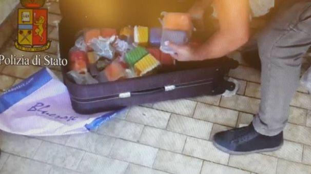 La droga trovata nel box-deposito