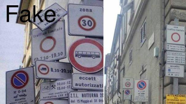 Il fotomontaggio pubblicato dall'assessore Giorgetti sulla sua pagina FB per difendersi dalla foto-fake virale sui social