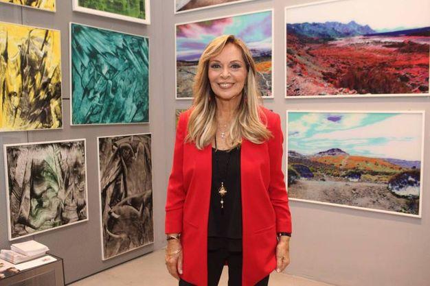 Silvana Giacobini  all'inaugurazione della  seconda edizione della Biennale di Milano
