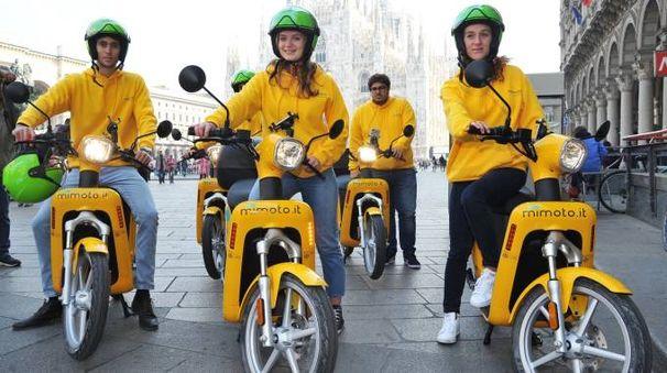 La presentazione del servizio di scooter sharing MiMoto
