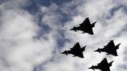 Gli eurofighter in azione - Afp