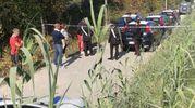 La zona dove è stata trovata l'auto con due corpi carbonizzati