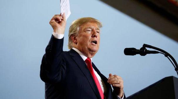 Il presidente americano Donald Trump (Lapresse)