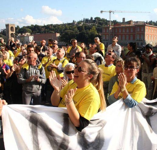 Un momento della manifestazione (Umberto Visintini / New Press Photo)