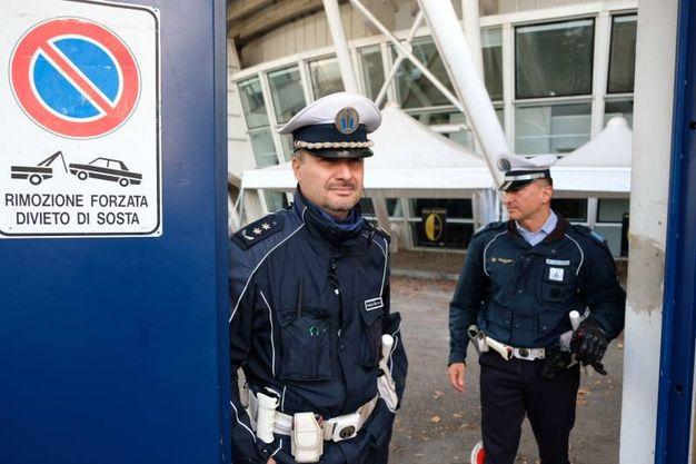 La polizia municipale al Braglia (FotoFiocchi)