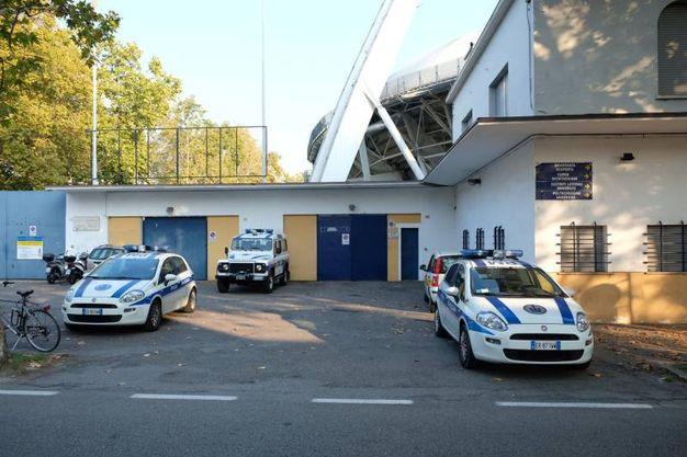 Lo sgombero dello stadio (FotoFiocchi)