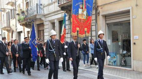 La processione accompagnata dalla banda 'Città di San Benedetto'