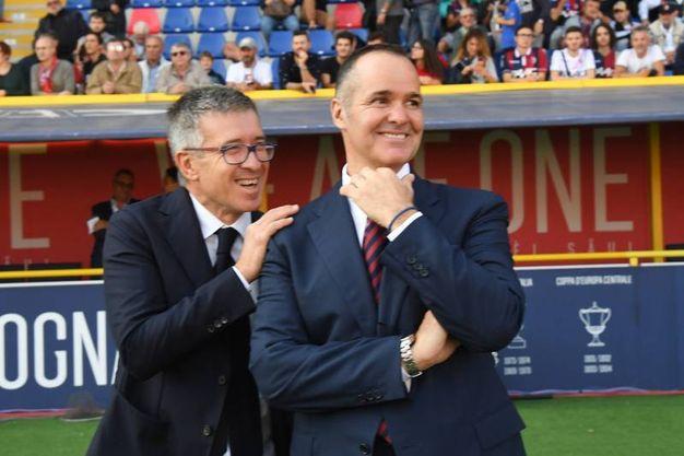 Saputo e Fenucci ad inizio partita (foto Schicchi)