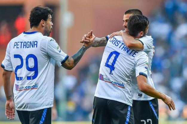 L'esultanza dopo il gol di Cristante (Ansa)