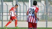 Baldazzi segna il secondo gol per la Vis Pesaro (FotoBinci)