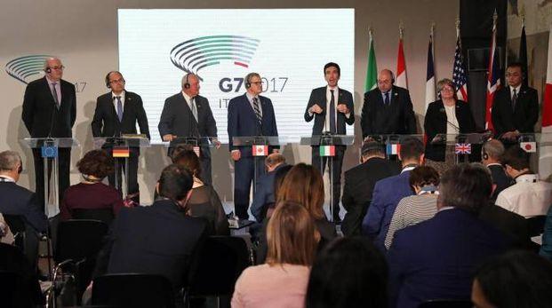 I ministri al G7 (Ansa)
