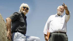 Valerio Massimo Manfredi e Mario Luni a Selinunte (foto G. Dromedari)