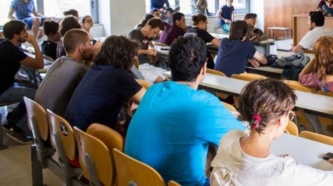 Una lezione all'Università (foto d'archivio)