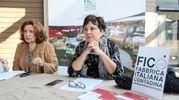 L'ad Tiziana Primori ha detto che grazie a questa esposizione, i visitatori saranno in grado di capire la grande biodiversità del cibo italiano (foto Schicchi)