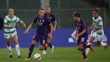 Fiorentina Women's, Mauro in azione contro il Fortuna Hjørring (Germogli)