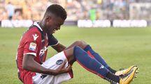 L'infortunio di Mbaye in Bologna-Spal (foto LaPresse)