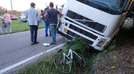 L'incidente in via Bagalona (foto Frasca)