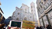 Cartoline postali con il Duomo e il campanile di Giotto