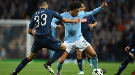 Manchester City-Napoli (Afp)