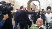 Accoglienza fanese al segretario Pd (foto Marchetti)