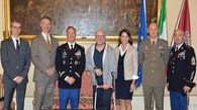 Nogarin riceve il comandante della guarnigione U.S. Army Italy, Eric Berdy (Lanari)