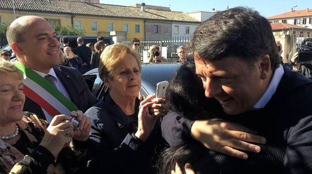 Matteo Renzi accolto dagli osimani