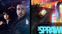 Un'immagine di Blade Runner 2049 e la copertina di The Sprawl