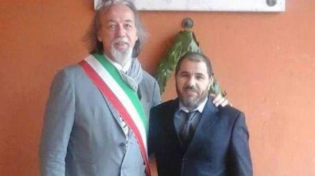 Mustapha Soufi assieme al sindaco di Longiano Ermes Battistini