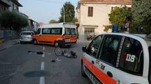 Incidente in via Tripoli (foto Frasca)