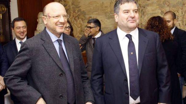 Stefano Fiocchi (a sinistra) con Vincenzo Boccia