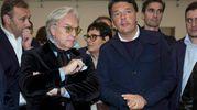 Diego Della Valle e Matteo Renzi (LaPresse)