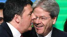 Matteo Renzi e Paolo Gentiloni - Ansa
