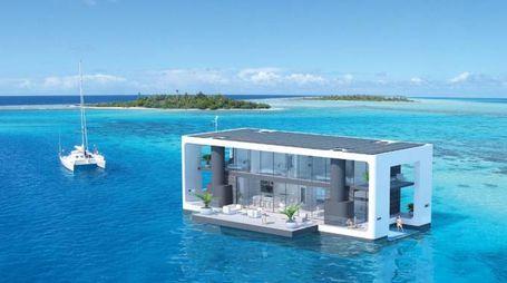 Un render della casa galleggiante – Foto: Arkup