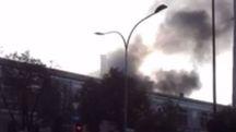 Bologna, incendio all'ex Staveco