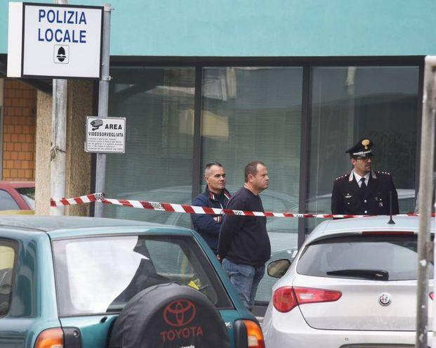 Tragedia al comando della polizia municipale di Bellaria Igea Marina (foto Migliorini)