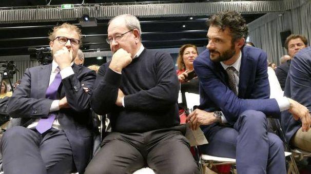 Luca Lotti, Antonello Giacomelli e Matteo Biffoni (foto Attalmi)