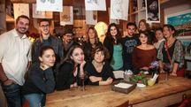 Il gruppo di scrittura creativa (foto New Pressphoto)