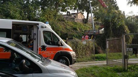 Il luogo della tragedia in via del Bastione (foto Frasca)