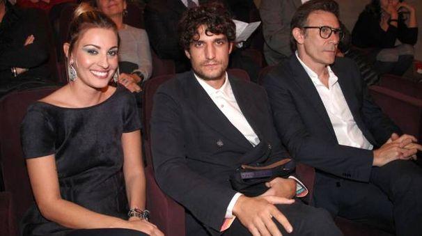 Sveva Alviti, Louis Garrel e Michel Hazanavicius (foto Umberto Visintini/New Pressphoto)