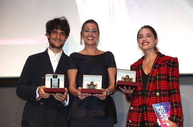 Louis Garrel, Sveva Alviti e Matilde Gioli (foto Umberto Visintini/New Pressphoto)
