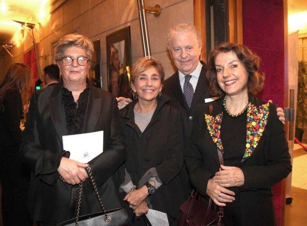 Giuliana Bertinelli, Stefania Ricci, Luciano Bertinelli e Isabelle Mallez (foto Umberto Visintini/New Pressphoto)