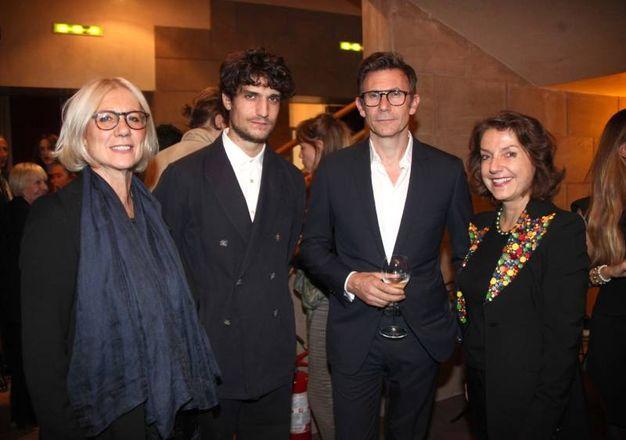 Monica Barni, Louis Garrel, Michel Hazanavicius e Isabelle Mallez (foto Umberto Visintini/New Pressphoto)